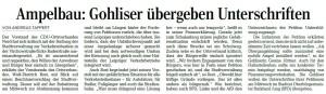 Artikel der Leipziger Volkszeitung vom 22. August 2016